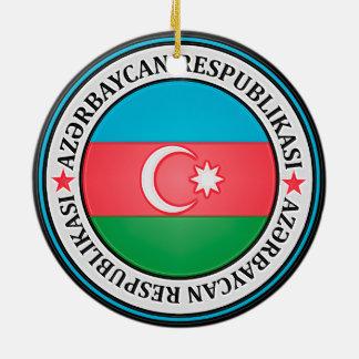 アゼルバイジャンの円形の紋章 セラミックオーナメント