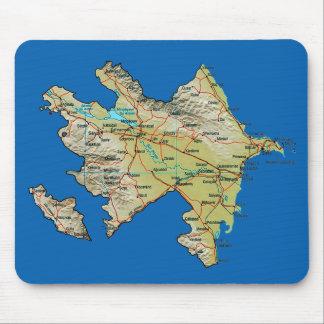 アゼルバイジャンの地図のマウスパッド マウスパッド