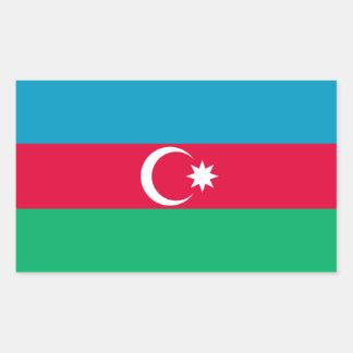 アゼルバイジャンの愛国心が強い旗 長方形シール