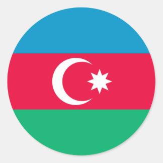 アゼルバイジャンの旗のステッカー ラウンドシール