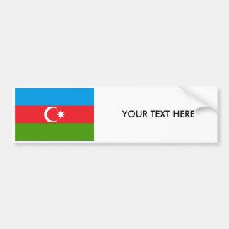 アゼルバイジャンの旗のバンパーステッカー バンパーステッカー