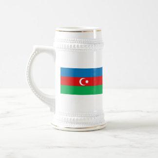 アゼルバイジャンの旗の~の地図のマグ ビールジョッキ