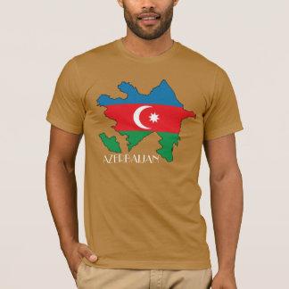 アゼルバイジャンの旗地図のワイシャツ Tシャツ