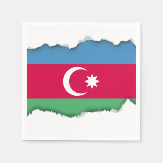 アゼルバイジャンの旗 スタンダードカクテルナプキン