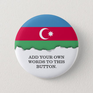アゼルバイジャンの旗 5.7CM 丸型バッジ