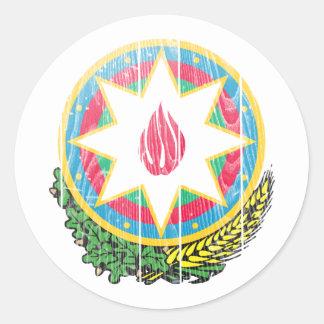 アゼルバイジャンの紋章付き外衣 ラウンドシール