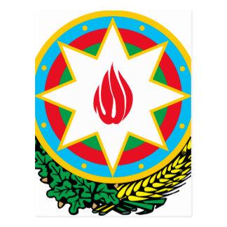 アゼルバイジャン- Азәрбајҹангербиの紋章付き外衣 ポストカード