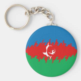 アゼルバイジャン|すごい|旗 キーホルダー