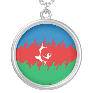 アゼルバイジャン|すごい|旗 ネックレス