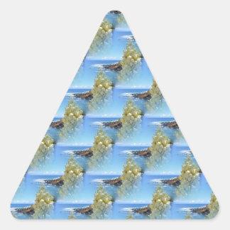 アゾレスのユッカの花 三角形シール