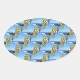 アゾレスのユッカの花 楕円形シール