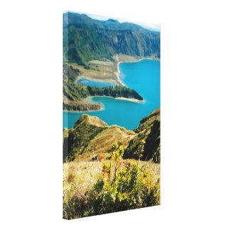 アゾレスの島の湖 キャンバスプリント