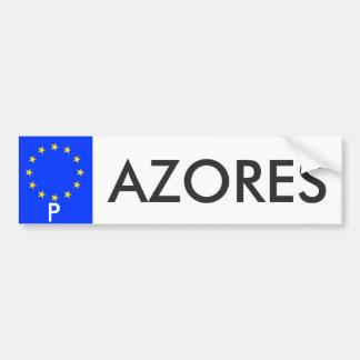 アゾレスの欧州連合のナンバープレートのステッカー バンパーステッカー
