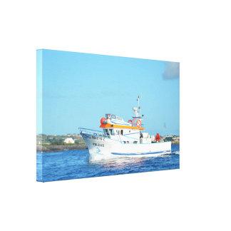 アゾレスの漁船 キャンバスプリント