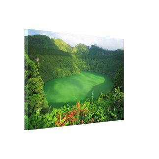 アゾレスのcrater湖 キャンバスプリント