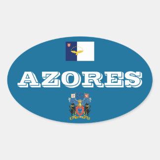 アゾレス(ポルトガル)のヨーロッパ式の楕円形のステッカー 楕円形シール