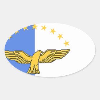 アゾレス(ポルトガル)の旗 楕円形シール