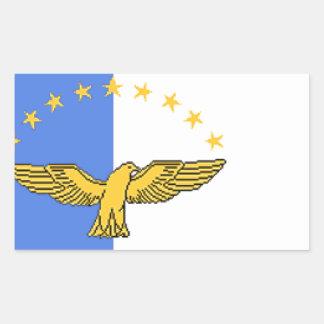 アゾレス(ポルトガル)の旗 長方形シール