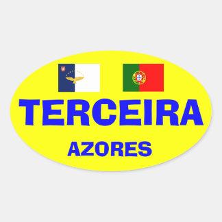 アゾレス- Terceiraのヨーロッパスタイルの楕円形のマグ 楕円形シール