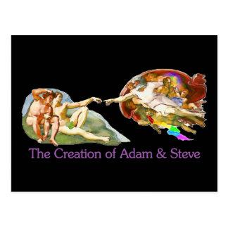 アダムおよびスティーブの作成 ポストカード