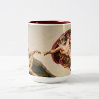 アダムのコーヒー・マグの作成 ツートーンマグカップ