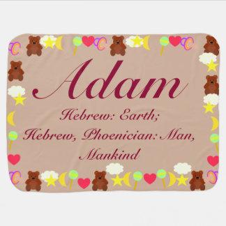 アダムのベビーブランケットのテンプレート ベビー ブランケット