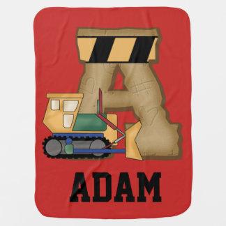 アダムの名前入りなギフト ベビー ブランケット