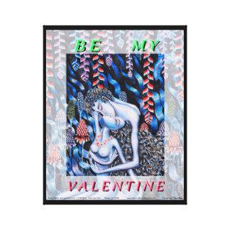 アダム及びイブのバレンタインデー キャンバスプリント