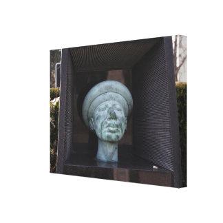 アダム-ルドルフHausnerの墓の彫刻 キャンバスプリント