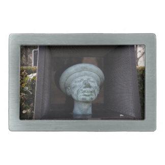 アダム-ルドルフHausnerの墓の彫刻 長方形ベルトバックル