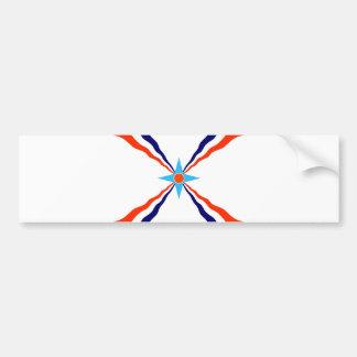 アッシリアの人々の旗 バンパーステッカー