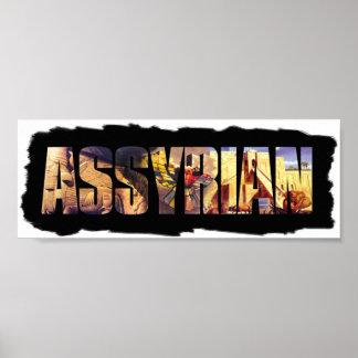 アッシリアの単語ポスター プリント