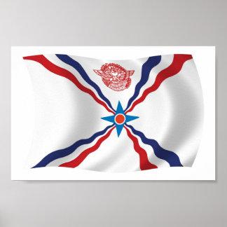 アッシリアの国家の旗ポスタープリント ポスター