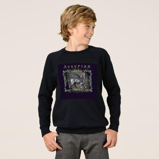 アッシリアの子供のアメリカの服装のRaglanのスエットシャツ スウェットシャツ
