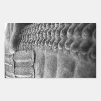 アッシリアの彫刻|のカスタマイズ可能なステッカー 長方形シール