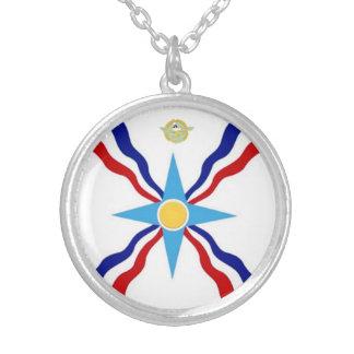 アッシリアの旗のネックレス シルバープレートネックレス