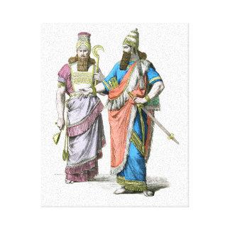 アッシリアの高僧および王 キャンバスプリント