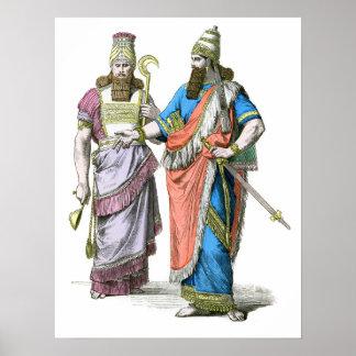 アッシリアの高僧および王 ポスター