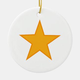 アップリケの星 セラミックオーナメント
