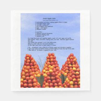 アップルケーキのレシピの紙ナプキン スタンダードランチョンナプキン