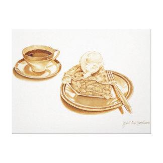 アップルパイおよびコーヒー キャンバスプリント