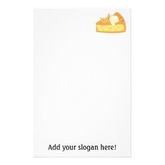 アップルパイの切れの写真: カスタマイズために文字を加えて下さい 便箋
