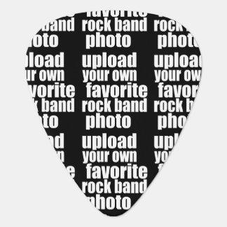 アップロードのロック・バンドの写真の(名前と)黒 ギターピック