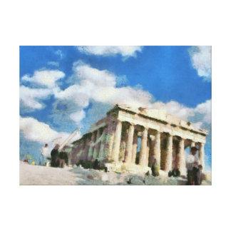 アテネのすばらしいアクロポリス キャンバスプリント