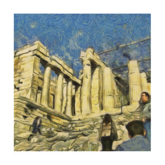 アテネのアクロポリスの訪問 ウッドウォールアート