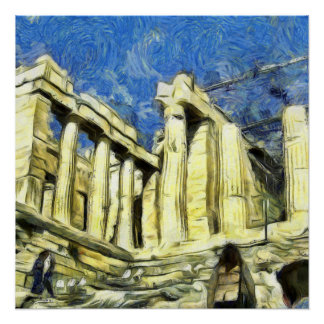 アテネのアクロポリスの訪問 ポスター