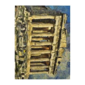 アテネのアクロポリス ウッドウォールアート