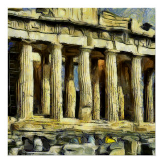 アテネのアクロポリス ポスター