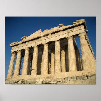 アテネのパルテノンのアクロポリス ポスター