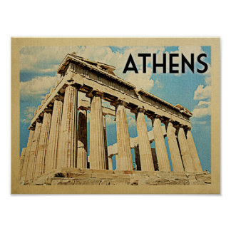 アテネのヴィンテージ旅行ポスター ポスター